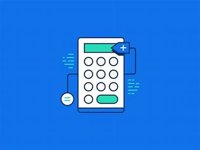 Calculator Clipart Animation Dribbble Icon Calculater Transparent