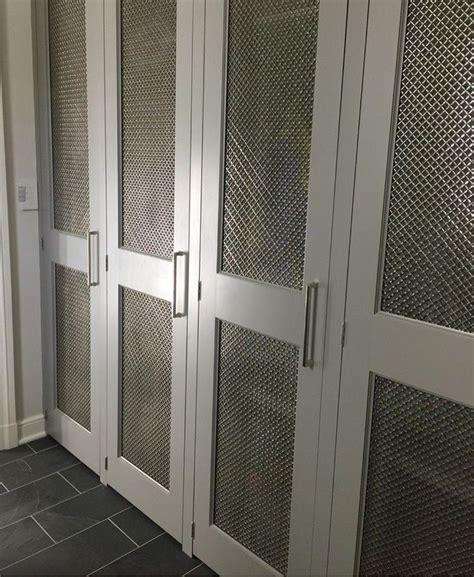 mesh grille closet doors inset chicken wire