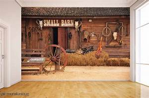 small barn buy prepasted wallpaper murals online With deco trompe l oeil mural