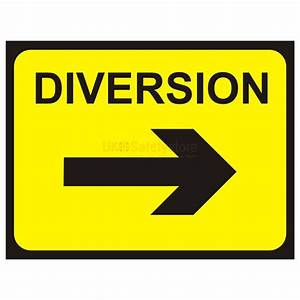 Diversion Arrow Right Temporary Traffic Sign Temporary