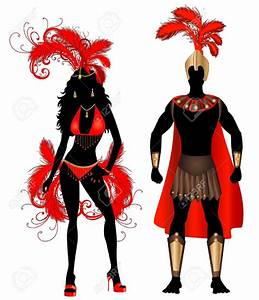 Carnival clipart caribbean carnival - Pencil and in color ...