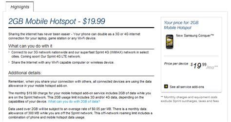 Sprint Kills 5gb2999 Wi Fi Hotspot Plan For Phones And