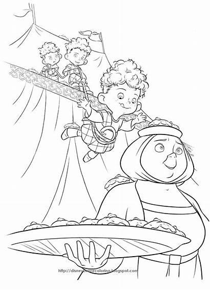 Coloring Disney Pages Brave Merida Princess Printable
