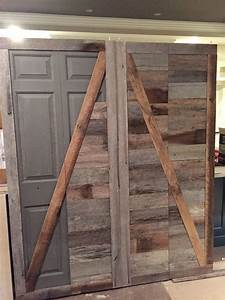 create a beautiful reclaimed wood barn door from an ugly With barn wood bifold doors