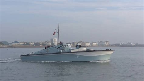 Model Boat Guns by Historic Classic Motor Gun Boat Mgb 81 Speeding Out Of