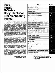 1995 Mazda Truck Body Electrical Troubleshooting Manual
