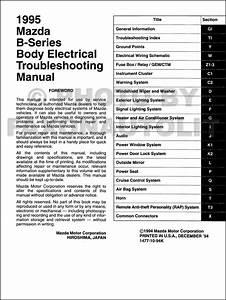 1995 Mazda Truck Body Electrical Troubleshooting Manual