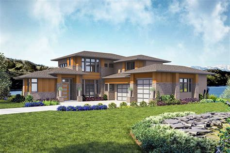 contemporary house plan modern 4 bed house plan with indoor outdoor living