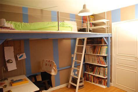 chambre avec lit mezzanine album mezzanine sur mesure pour un ado atelier