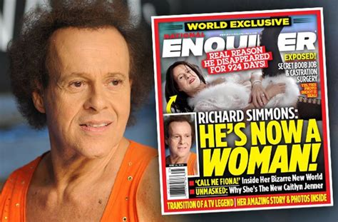 stunning brave richard simmons  castrated