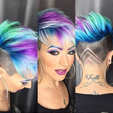 Coloured Hairstyles by Coloured Pixie Haircut All Things Hair