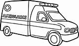 Coloring Pages Ambulance Printable Mandala Transportation sketch template