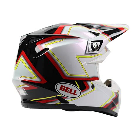 Bell New 2017 Mx Moto9 Pace Dirt Bike Red Yellow Black