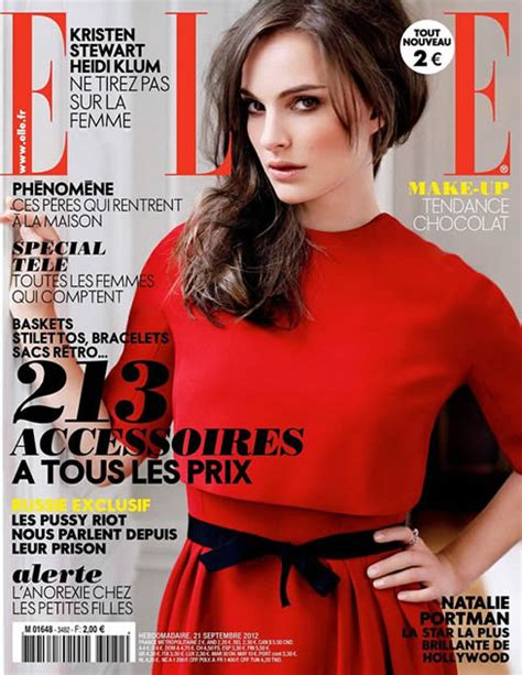 Natalie Portman Elle Magazine France September