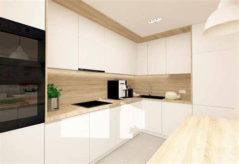 ideas de cocinas en blanco  madera cocina preciosa
