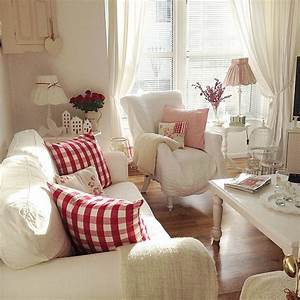 15 impressive red and white interior designs that you With accents on your country cottage decor