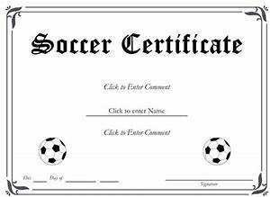 6 best images of free printable soccer award certificates With soccer certificate templates for word