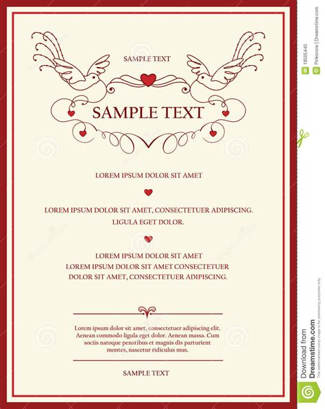 wedding invitation card stock photo image