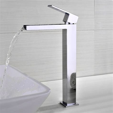 Modern Faucets For Bathroom Sinks by Fiego Modern Chrome Waterfall Single Faucet For