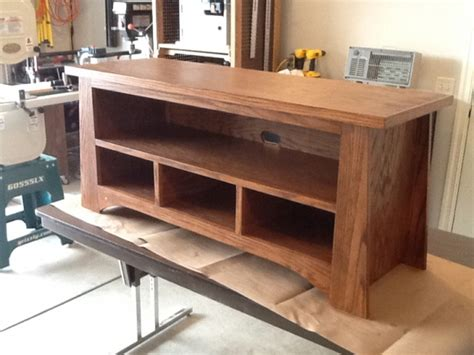 oak tv stand   family handyman woodworking talk