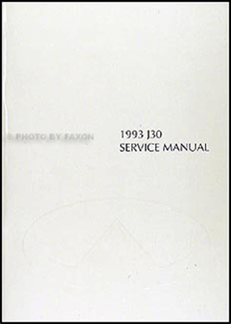 download car manuals 1994 infiniti j user handbook 1993 infiniti j30 repair shop manual original