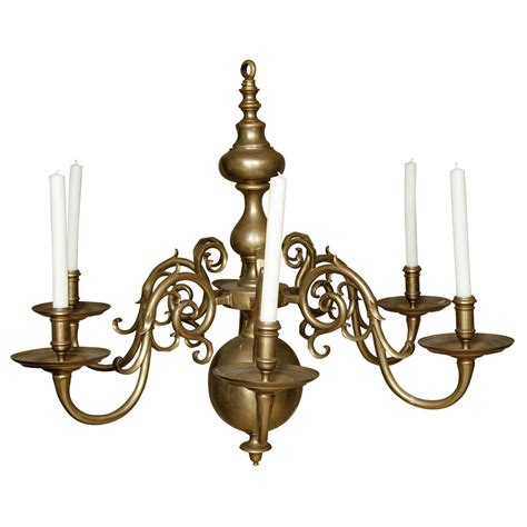Large Brass Chandelier by X Jpg