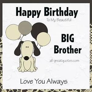 Happy Birthday To My Beautiful Big Brother