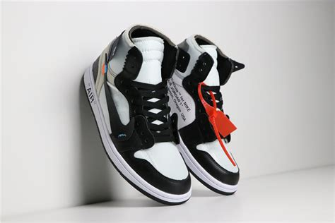 Off White X Nike Air Jordan 1 Blackwhite Aa3834 102 For