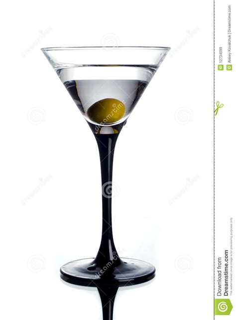 Martini Glass And Olive Royalty Free Stock Images Image