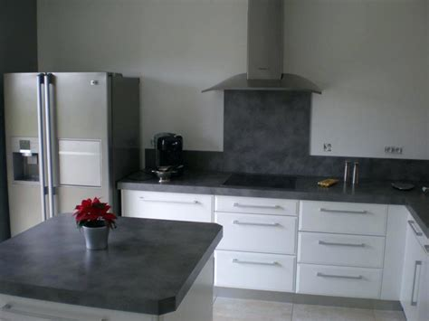 plan de travail cuisine blanc laqué cuisine laquee blanche plan de travail gris newsindo co