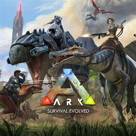 ark survival evolved  playstation  box cover art