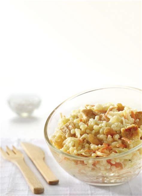 salade de perles poulet coleslaw et raisins secs alpina savoie
