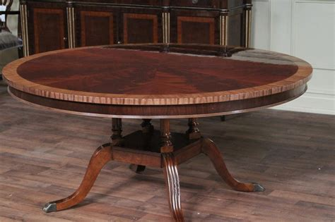 "60"" Round Mahogany Dining Table, Single Pedestal Dining Room Table   eBay"