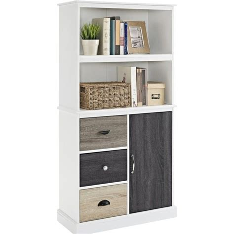 white bookcase with drawers 2 shelf bookcase with storage drawers in white 9634096