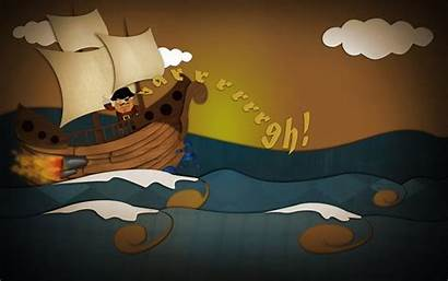 Pirate Ship Cartoon Backgrounds Wallpapers 3d Fantasy