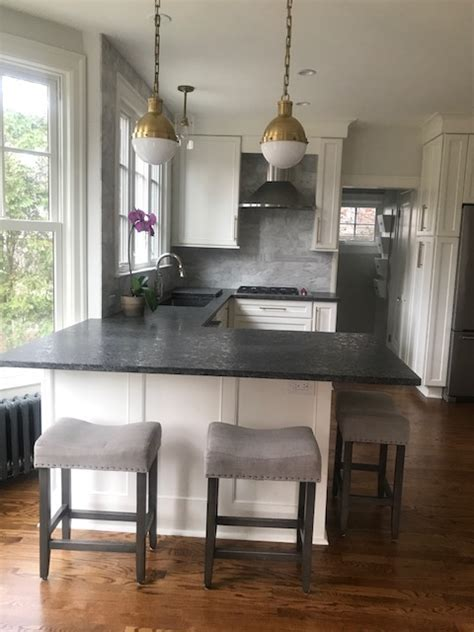 Steel Grey Leather finish countertops   Hesano Brothers
