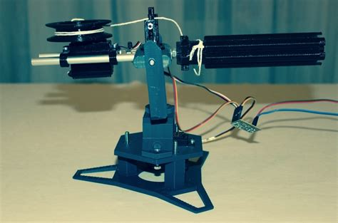 printed sentry rubber band gun  find targets  fire   automatically dprint