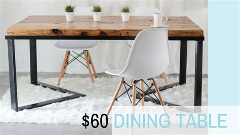 iron and wood dining tables diy scandinavian dining table wood metal recycled 7586