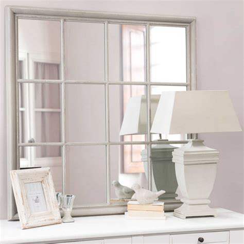 miroir en bois gris   cm camargue maisons du monde