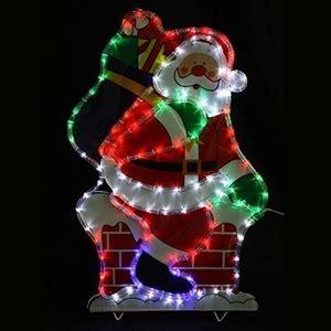 solar led santa in chimney christmas display multi auction