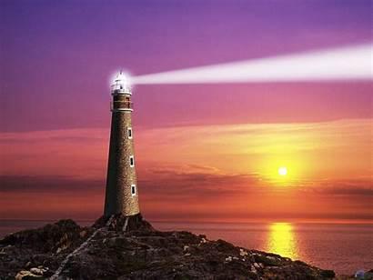 Lighthouse Beam Wallpapers Nature Sunset Lighthouses Sundown