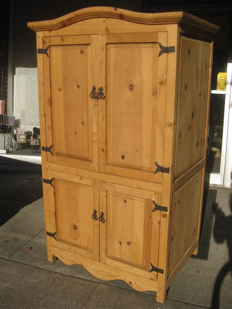 Pine Armoire For Sale by Uhuru Furniture Collectibles Sold Pine Armoire 175