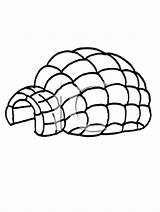 Igloo Coloring Pages Clipart Architecture Buildings Colouring Royalty Cartoon Related Keywords Drawing sketch template