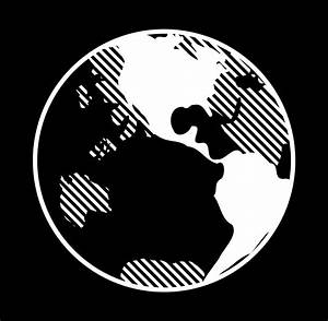 Clipart - Black and White Earth