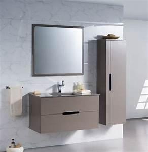 Meuble Salle De Bain Taupe. meuble de salle de bain suspendu 100 cm ...
