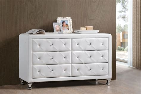 Affordable White Dresser by Baxton Studio Luminescence Wood Contemporary White