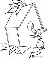 Coloring Bird Pages Birdhouse Sheets Clipart Drawing Printable Raisingourkids Fun Houses Print Getdrawings Embroidery Birdhouses Bing Cartoon Sheet Colouring Simple sketch template