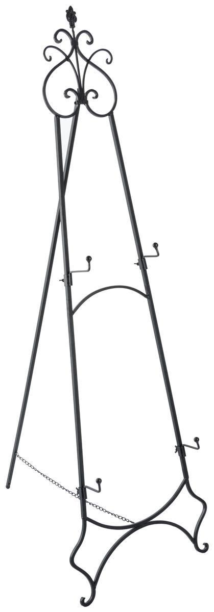 Decorative Floor Easel Stands by Adjustable Wrought Iron Easel Fleur De Lis Design