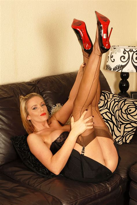 lustful blonde bitch in vintage stockings a xxx dessert picture 6