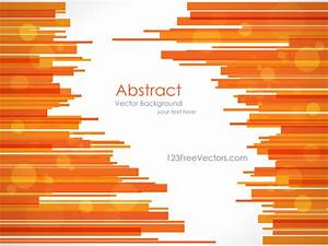 Abstract Orange Lines Background Vector Template ...